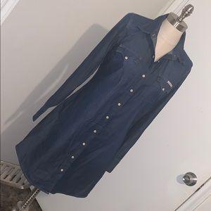 Women's Lucky Brand denim shirt dress size small